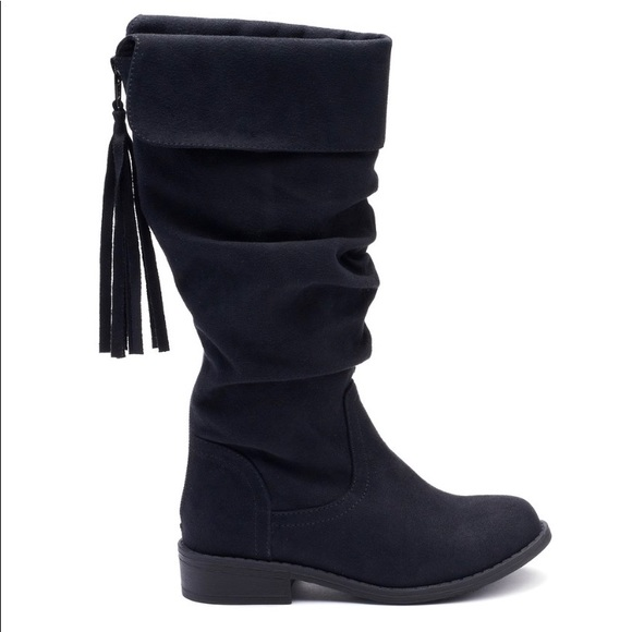 ad65fc467 SO Shoes   Nib Box Missing Top Black Tall Girl Boot Sz 2   Poshmark
